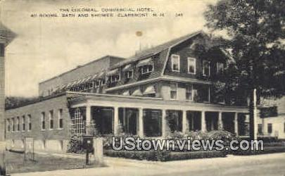 The Colonial Commercial Hotel - Claremont, New Hampshire NH Postcard