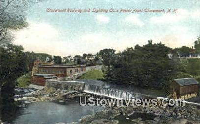 Lighting Co.'s Power Plant - Claremont, New Hampshire NH Postcard
