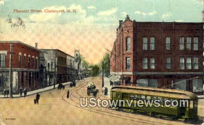Pleasant St. - Claremont, New Hampshire NH Postcard