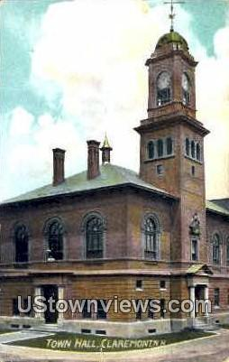 Town Hall - Claremont, New Hampshire NH Postcard