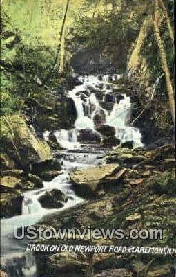 Brook  - Claremont, New Hampshire NH Postcard