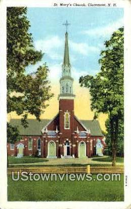 St. Mary's Church - Claremont, New Hampshire NH Postcard