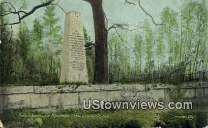Indian Massacre Monument - Concord, New Hampshire NH Postcard