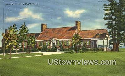 Country Club - Concord, New Hampshire NH Postcard