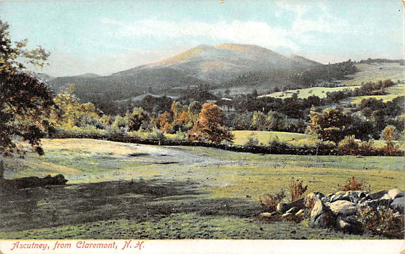 Ascutney - Claremont, New Hampshire NH Postcard