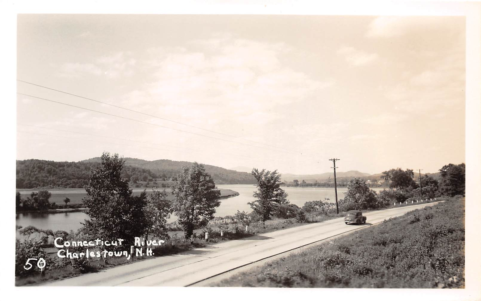 Connecticut River - Charlestown, New Hampshire NH Postcard