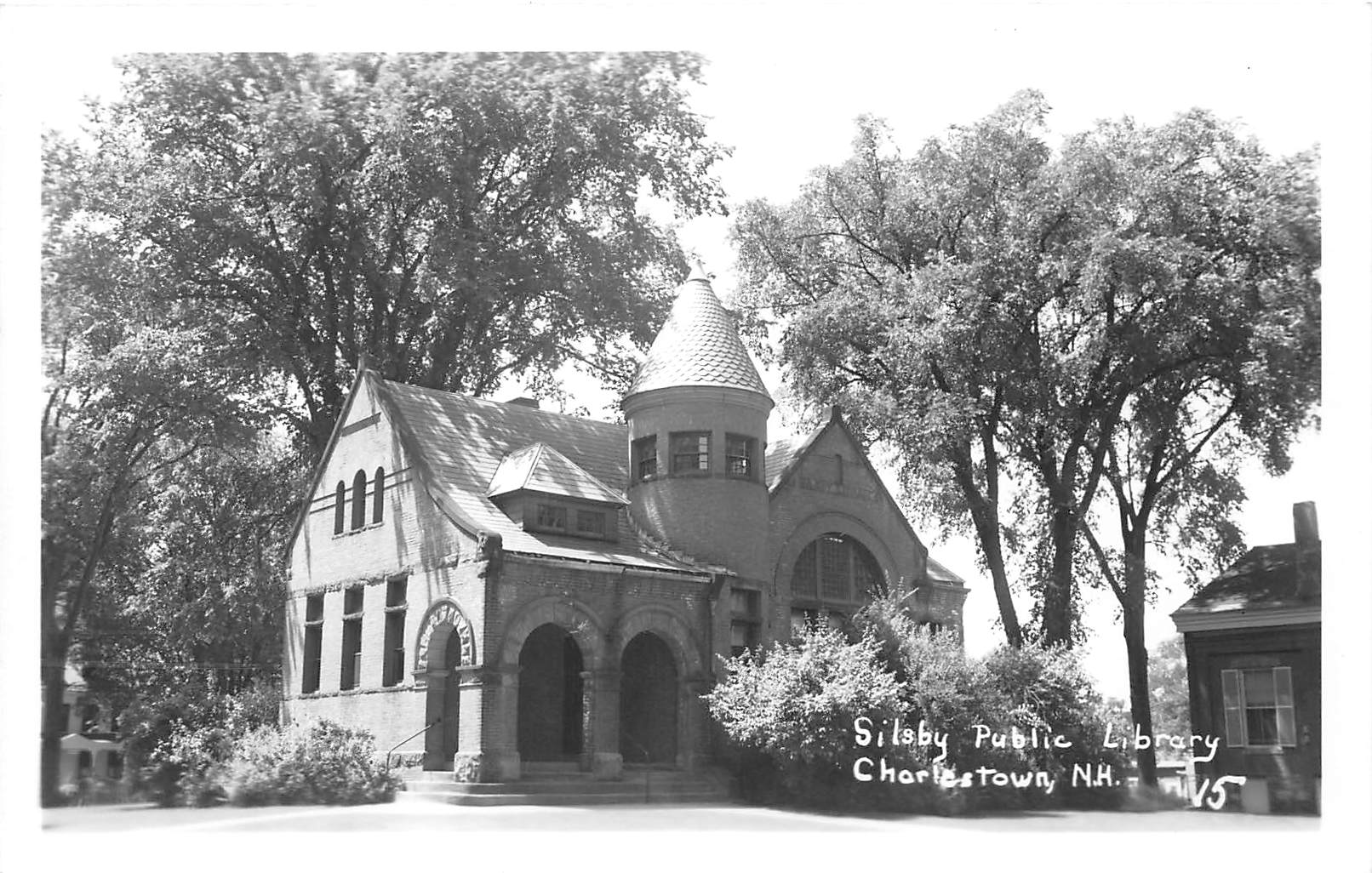Silsby Public Library - Charlestown, New Hampshire NH Postcard