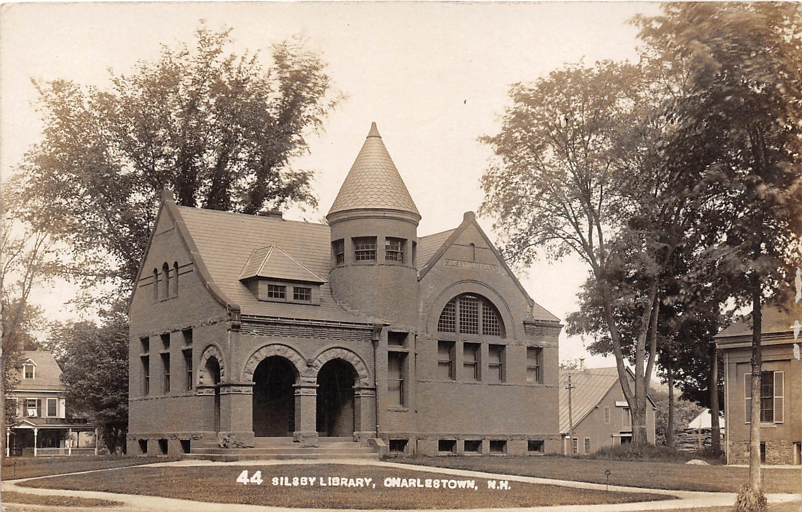 Silsby Library - Charlestown, New Hampshire NH Postcard