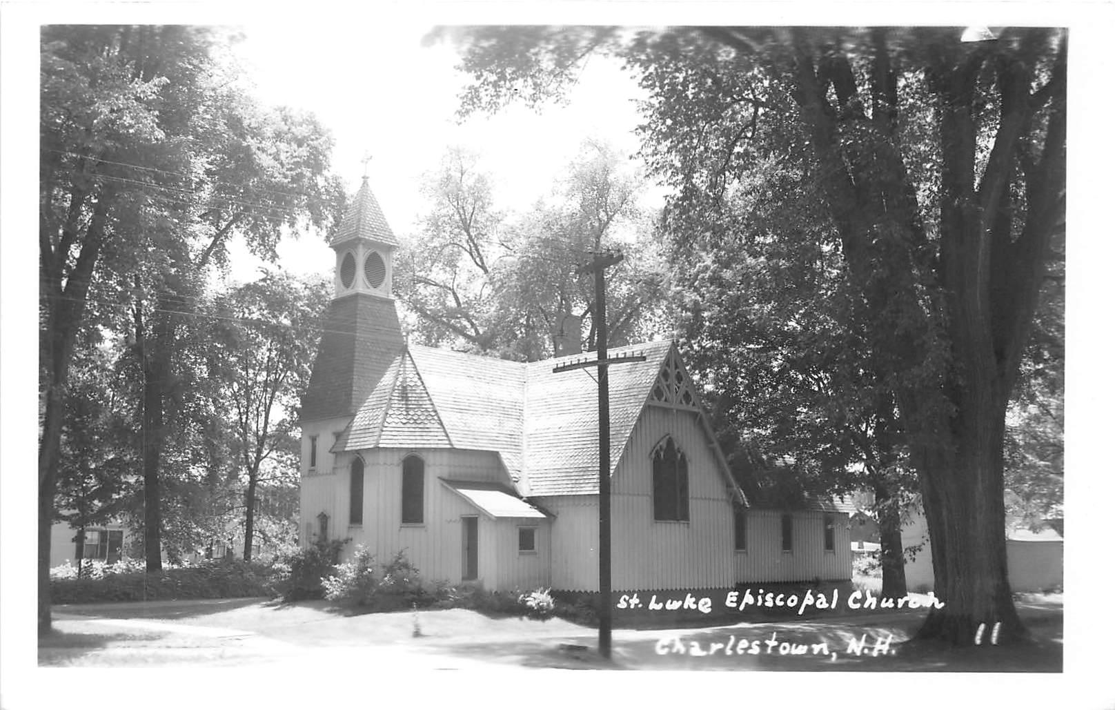 St Luke Episcopal Church - Charlestown, New Hampshire NH Postcard