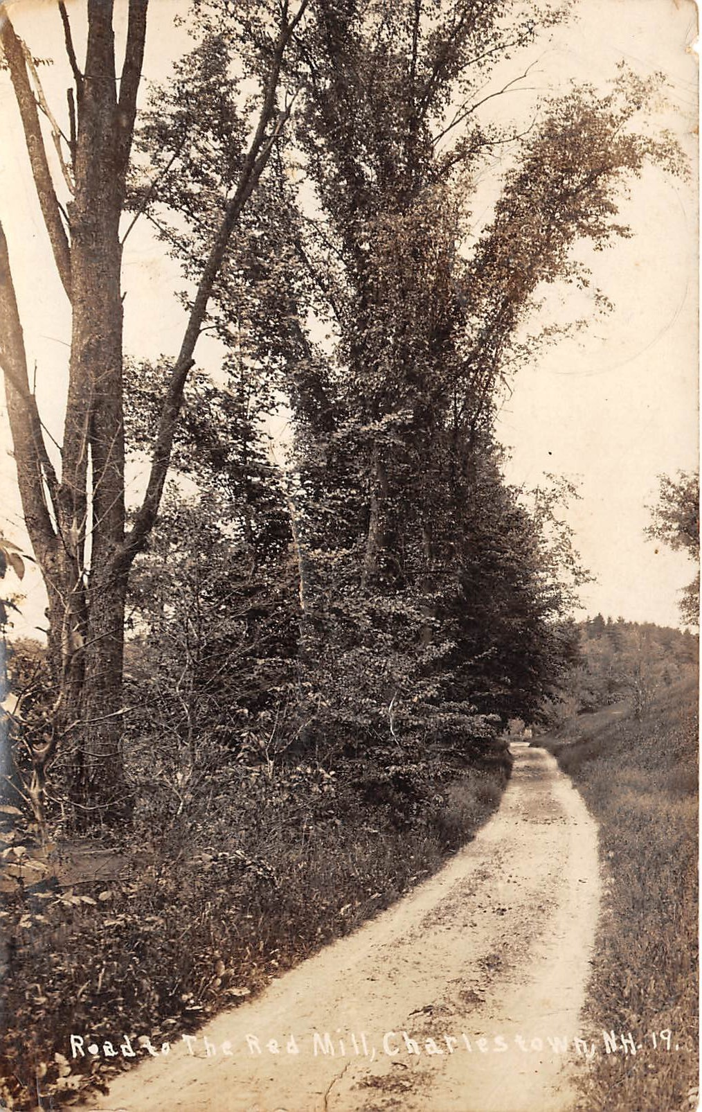 Road Scene - Charlestown, New Hampshire NH Postcard