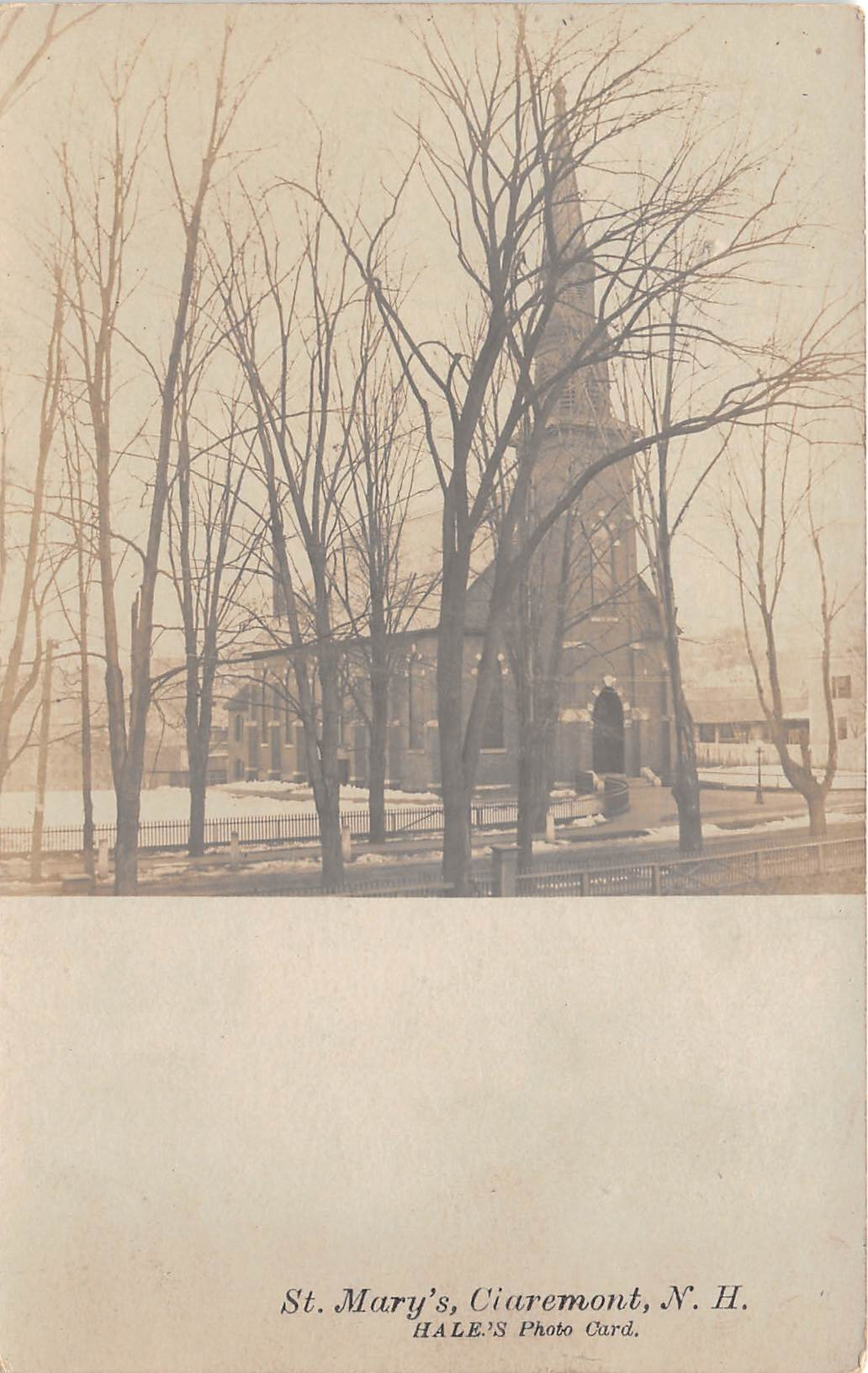 St Mary's - Claremont, New Hampshire NH Postcard