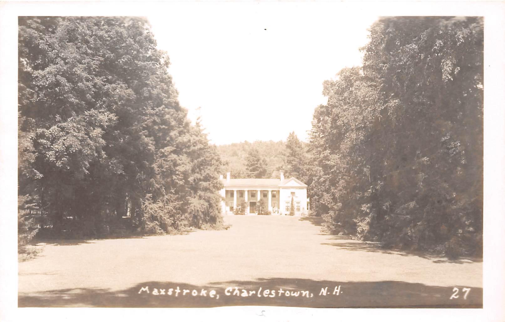 Maxstroke - Charlestown, New Hampshire NH Postcard