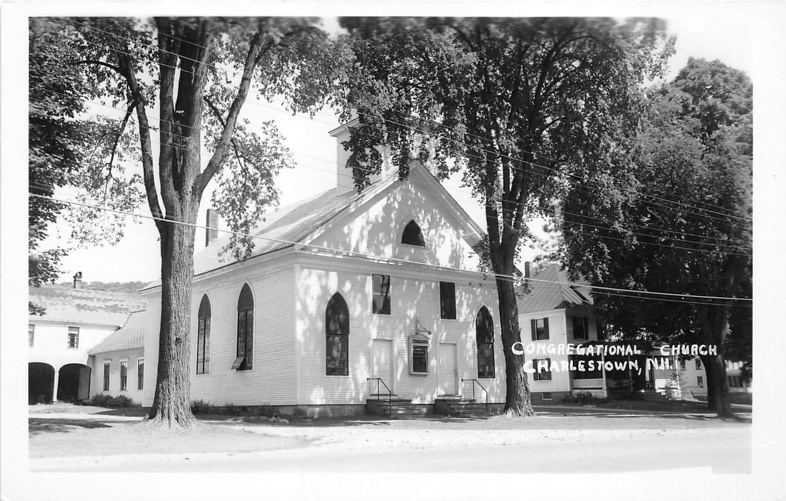 Congregational Church - Charlestown, New Hampshire NH Postcard