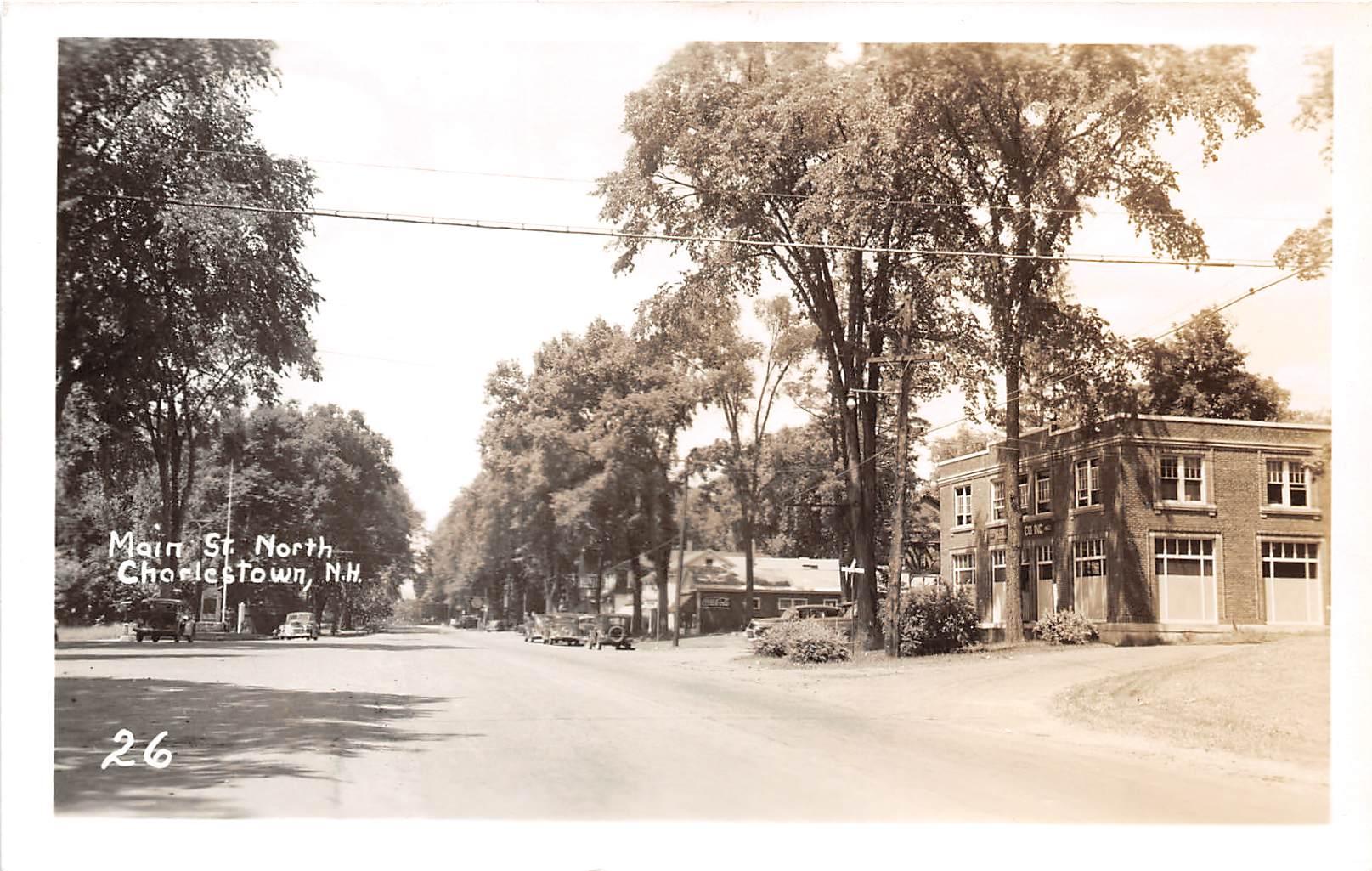 Main Street - Charlestown, New Hampshire NH Postcard