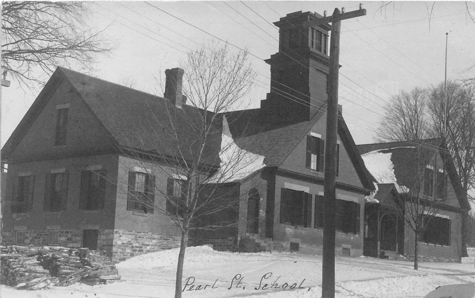 Pearl St School - Claremont, New Hampshire NH Postcard