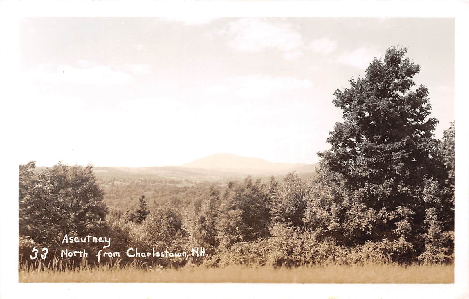 Ascutney North - Charlestown, New Hampshire NH Postcard