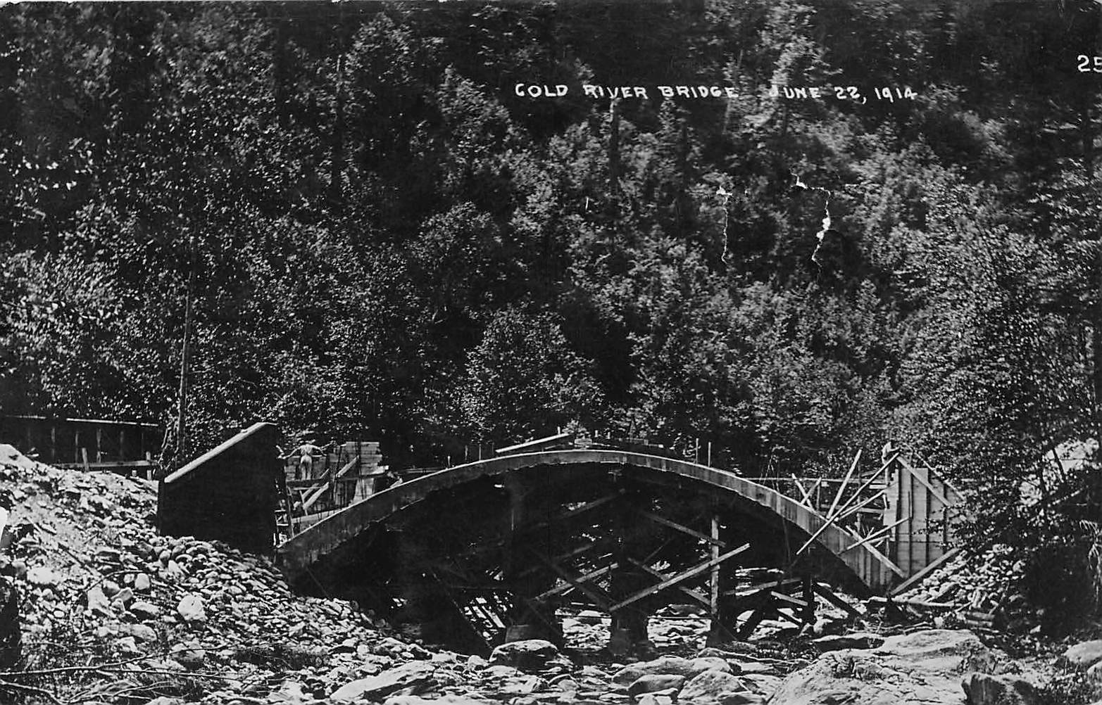 Cold River Bridge June 22, 1914 - Claremont, New Hampshire NH Postcard