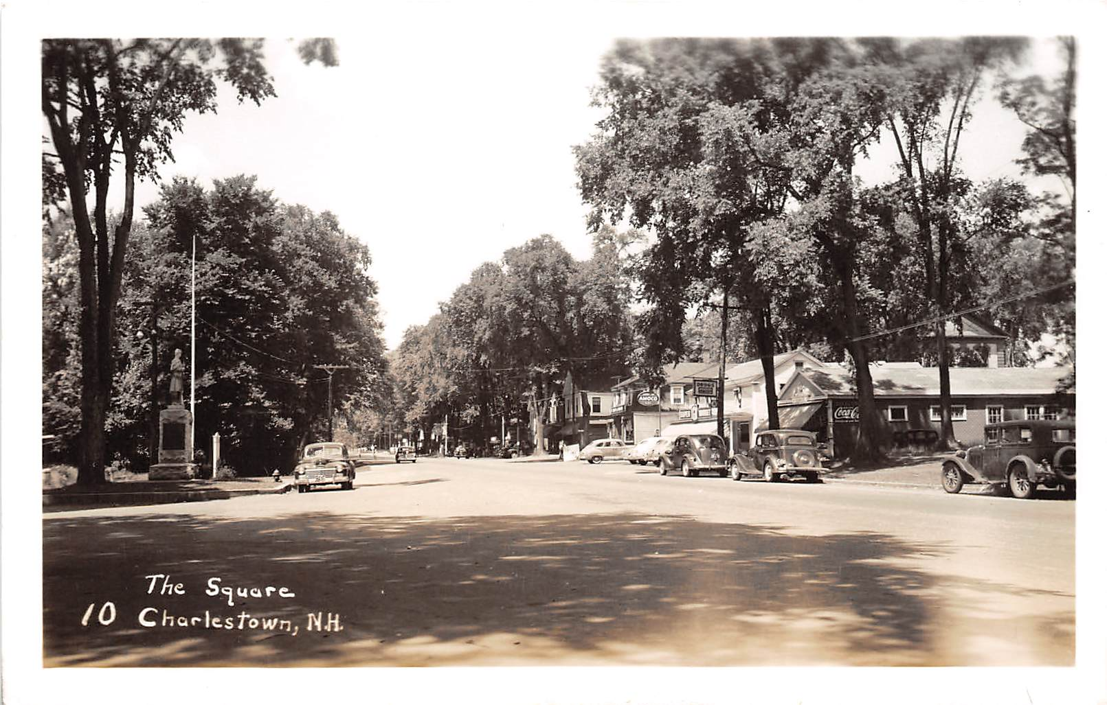 The Square - Charlestown, New Hampshire NH Postcard