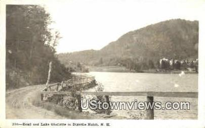 Road & Lake Gloriette - Dixville Notch, New Hampshire NH Postcard