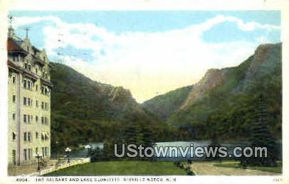 The Basams & Lake Gloriette - Dixville Notch, New Hampshire NH Postcard
