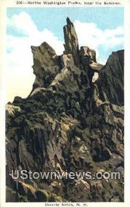 Martha Washington Profile - Dixville Notch, New Hampshire NH Postcard