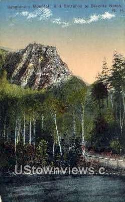 Sanguinary Mountain & Entrance - Dixville Notch, New Hampshire NH Postcard