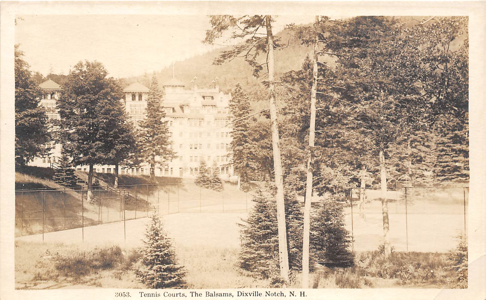 Tennis Courts - Dixville Notch, New Hampshire NH Postcard