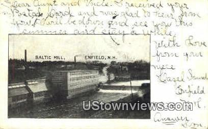 Baltic Mill - Enfield, New Hampshire NH Postcard