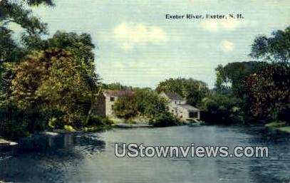 Exeter River - New Hampshire NH Postcard