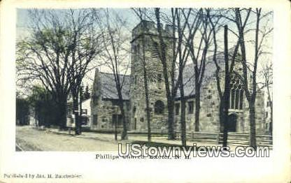 Phillips Church - Exeter, New Hampshire NH Postcard