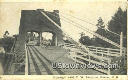 Bridge - Exeter, New Hampshire NH Postcard