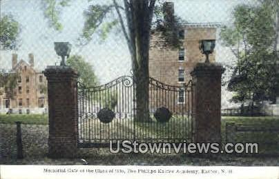 Memorial Gate - Exeter, New Hampshire NH Postcard