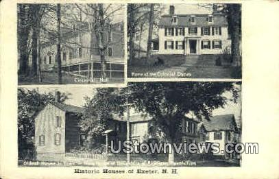 Historic Houses - Exeter, New Hampshire NH Postcard