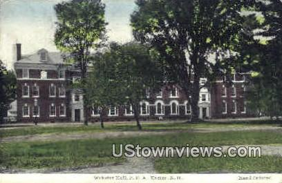 Webster Hall - Exeter, New Hampshire NH Postcard