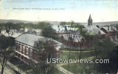 Tower of Phillips Church - Exeter, New Hampshire NH Postcard