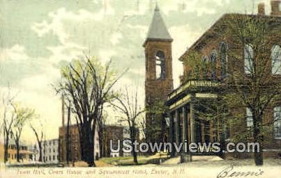 Town Hall, Court House - Exeter, New Hampshire NH Postcard
