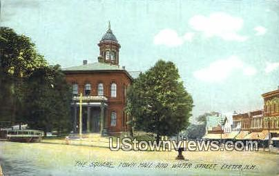 The Square - Exeter, New Hampshire NH Postcard