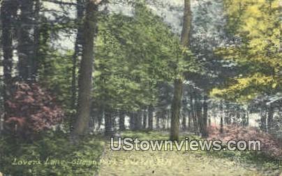 Lover's Lane, Gilman Park - Exeter, New Hampshire NH Postcard
