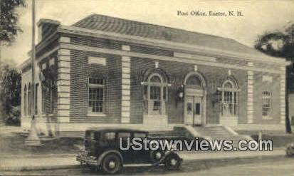 Post Office - Exeter, New Hampshire NH Postcard