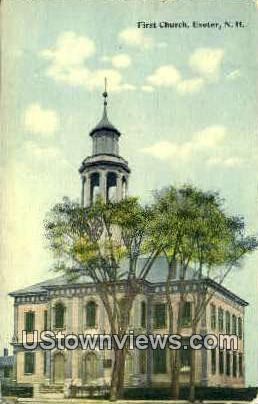 First Church - Exeter, New Hampshire NH Postcard