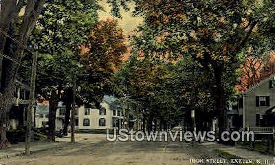 High St. - Exeter, New Hampshire NH Postcard