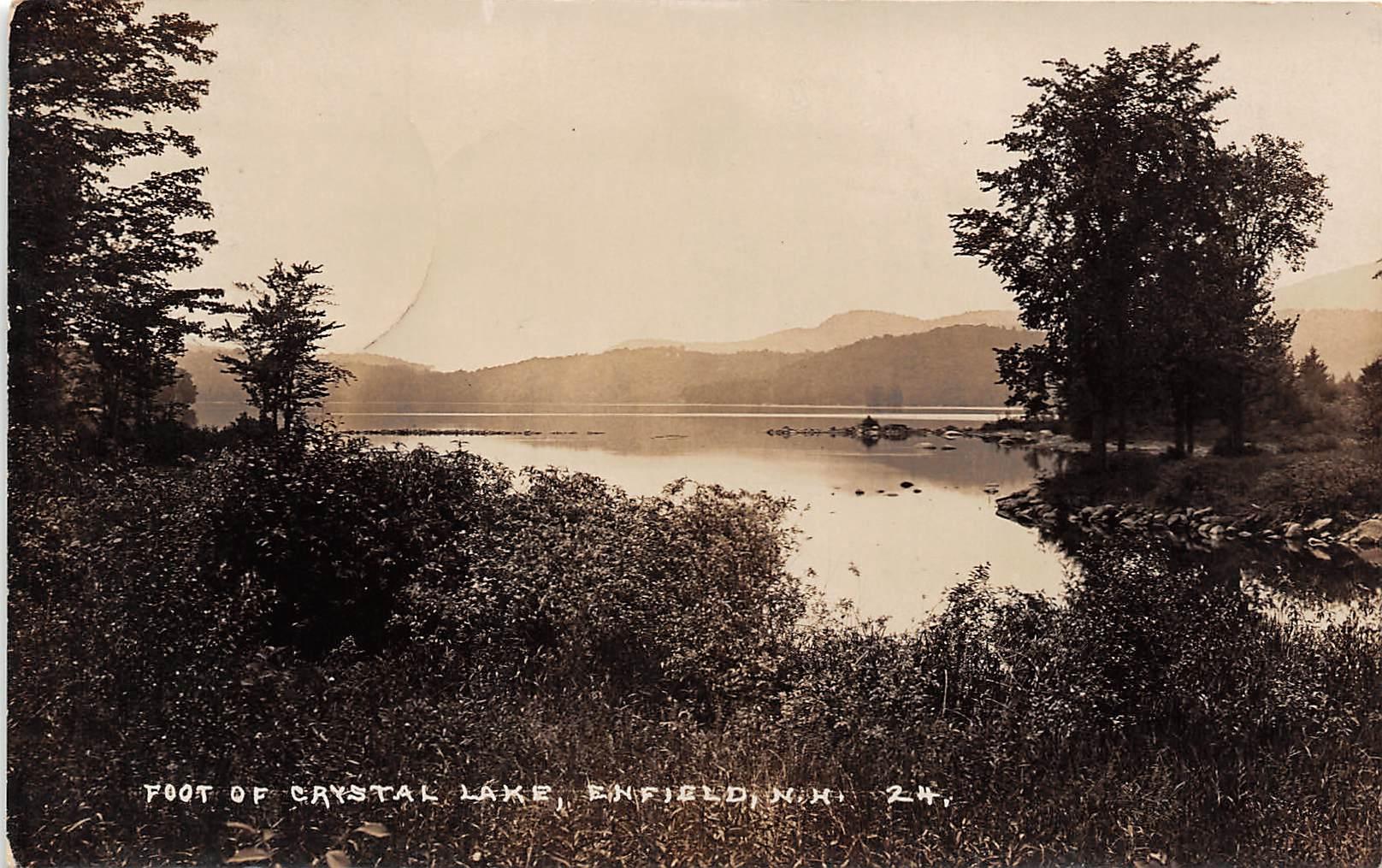 Crystal Lake - Enfield, New Hampshire NH Postcard