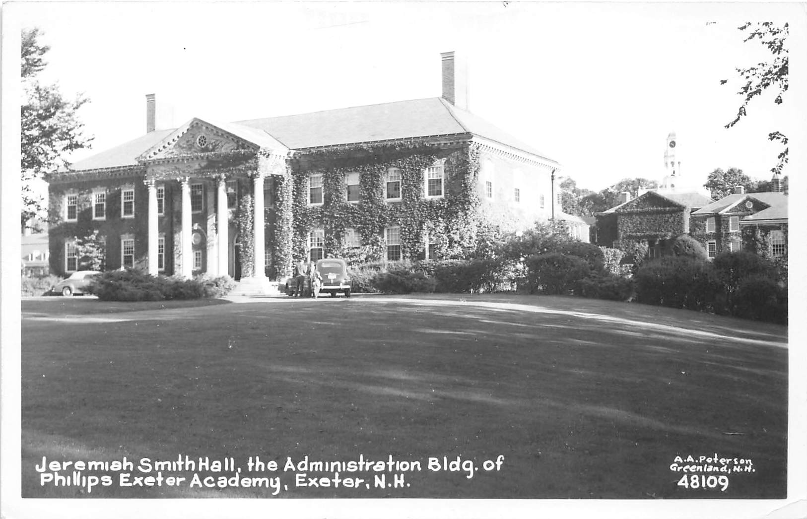 Jeremiah Smith Hall - Exeter, New Hampshire NH Postcard