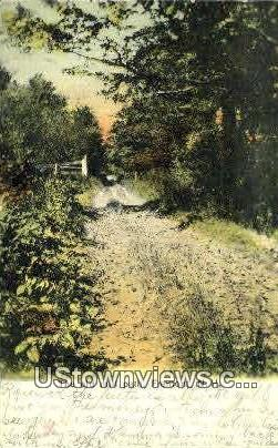 The Old Mill Path - Fremont, New Hampshire NH Postcard