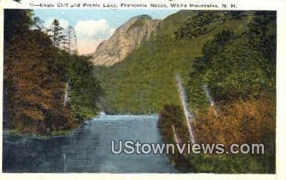 Eagle Cliff & Profile Lake - Franconia Notch, New Hampshire NH Postcard