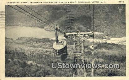 Mt. Aerial Passenger Tramway - Franconia Notch, New Hampshire NH Postcard