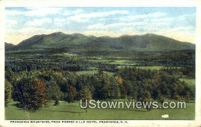 Franconia Mountains - Franconia Notch, New Hampshire NH Postcard