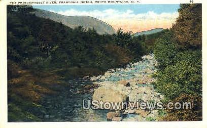 The Pemigewasset River - Franconia Notch, New Hampshire NH Postcard