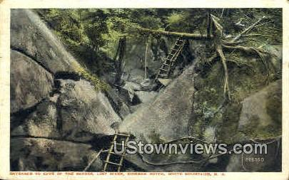 Entrance, Cave of the Shades - Franconia Notch, New Hampshire NH Postcard