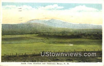 Twin Mountain & Franconia Range - Franconia Notch, New Hampshire NH Postcard